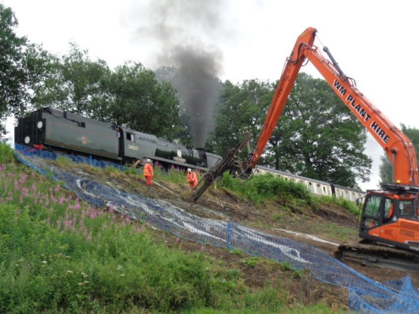 Severn Valley Railway Landslip Repair