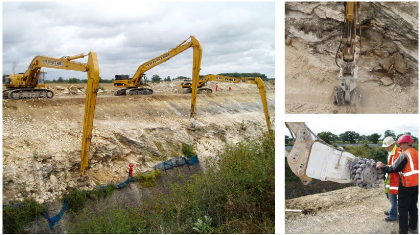 Rail cutting - Rock slope stabilisation and re-profiling Chipping Sodbury